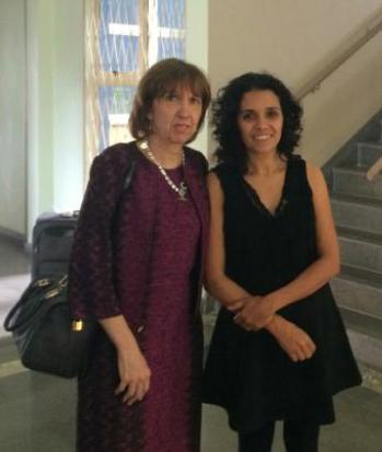 Pilar Vigil e Fabiana Azambuja (Diretora Nacional do Programa Teen STAR no Brasil)